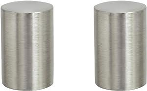 Aspen Creative 24019-22 Steel Lamp Finial in Brushed Nickel Finish, 1 1/4