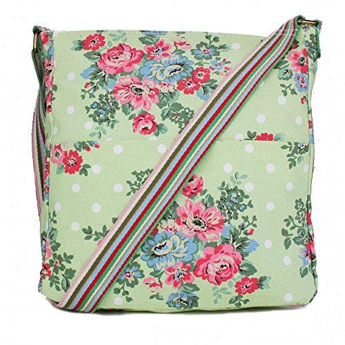 Miss Body Print Dot Satchel To Lulu School Canvas Floral Bag Green Flower Back Shoulder Messenger Cross Tq4TSrw
