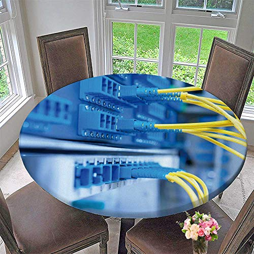 Chateau Easy-Care Cloth Tablecloth Fiber Optical Network Server for Home, Party, Wedding 47.5