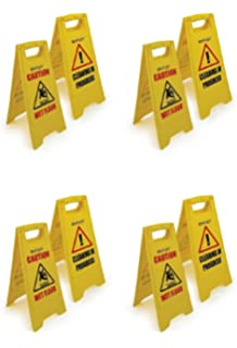 4 pezzi cautela per pavimento bagnato pulizia in progress giallo warning cono uk