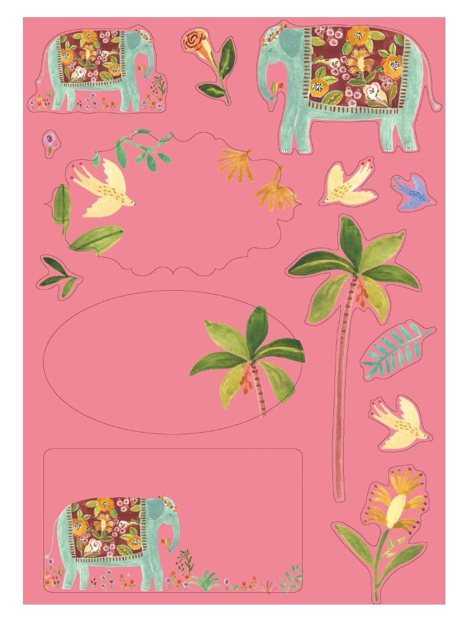 Over The Rainbow Elephant Luxe Letter Writing Set 10 fogli con buste coordinate e 2 fogli di adesivi