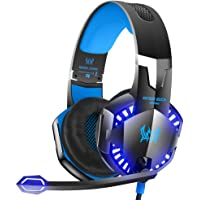VersionTECH. Gaming Headaset for PS4 Xbox One, G2000 Gaming Headphones with Noise Cancelling Mic, LED Light, Stereo Bass Surrouns for Laptop PC Nintendo Switch