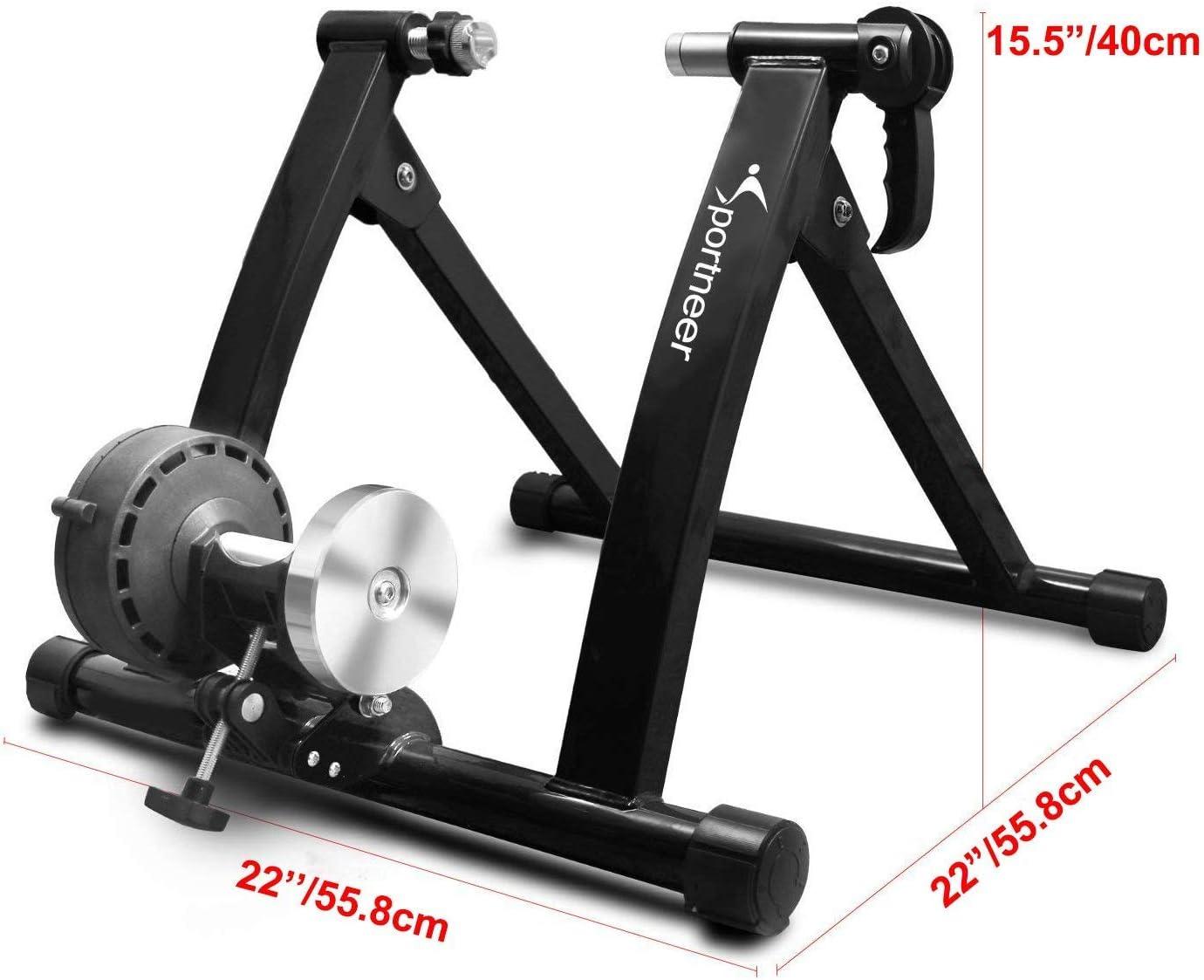 Fahrrad Rollentrainer Stahl Fahrrad /Übung Magnetischer St/änder mit Ger/äusch Reduktions Rad Sportneer Fahrradtrainer