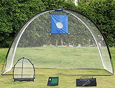 Yaheetech 3 In 1 Golf Practice Set Driving Net Chipping Net w/Carry Bag