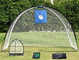 Yaheetech 3 in 1 Golf Practice Set Training Set Mat Driving Net Chipping Net- free 4 Nails