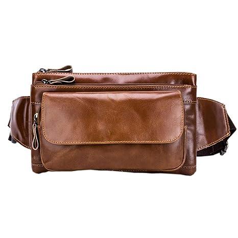 584b06c0be3c Amazon.com : Xieben Leather Waist Bag Fanny Pack Pocket Purse ...