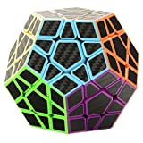 Twister.CK 3x3 Megaminx Speed Cube Magic Cube Brain Teasers Puzzles with Carbon Fiber Sticker