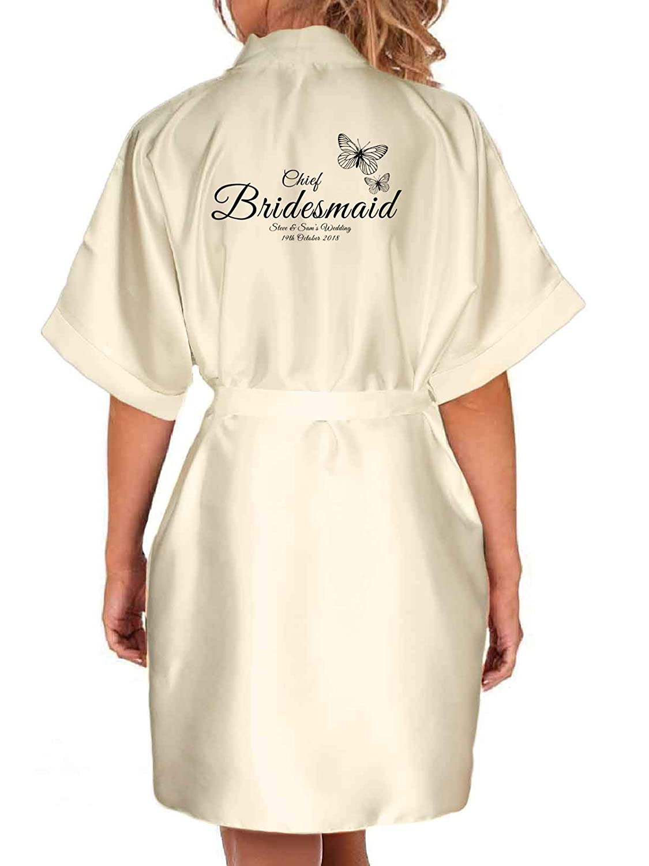 Bride robe bridesmaid robe personalised robe bridal party robe maid of honour