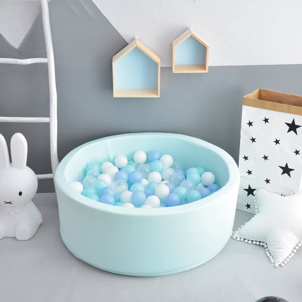 Chemical-Free Crush Proof Plastic Ocean Ball BPA Free with No Smell Pack of 100 Black, 2.75IN Wonder Space Soft Pit Balls Safe for Toddler Ball Pit// Kiddie Pool// Indoor Baby Playpen