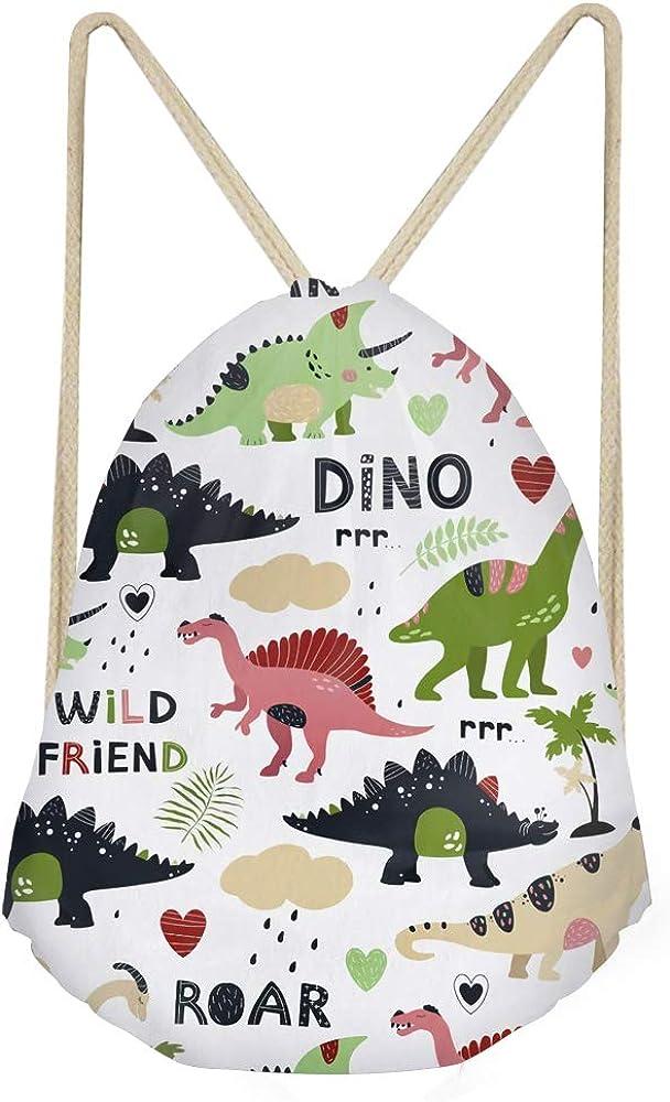 FANCOSAN Personalized Drawstring Bag Sport Gym Sack Bag Shopping Travel Folding Shoulder Backpack Cartoon Animal Pattern