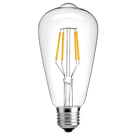 Oak Leaf Edison - Bombilla led vintage. Intensidad regulable, 25W, luz