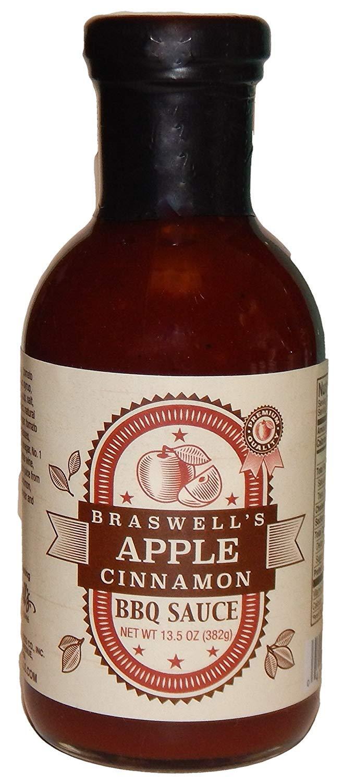 Braswell Sauce Apple Cinnamon Barbeque, 13.5 oz