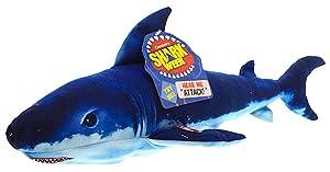 "Shark Week 30th Anniversary Dark Mako Shark Plush 18"" With Sounds"