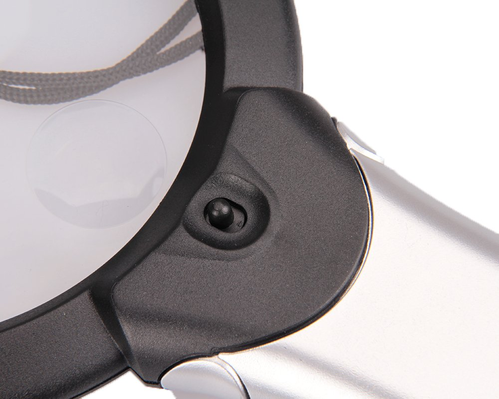 Hands Free 2 LED Lighted Neck Magnifier 2X 6X Reading Loupe Magnifier 100MM//3.9 Battery Powered Illuminated Magnifying Glass for Small Print Reading,Inspection,Beads,Embroidery,Impair,Low Vision