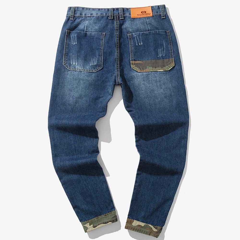 Uomo Autunno informale Cotone denim Vintage Hip Hop Pantaloni Jeans  Pantaloni-Uomo Casual Harem Jogging Sportivi Slim Fit-Uomo e Traspiranti per  Trekking ... bda225873aa7