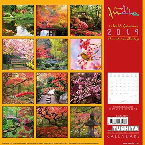amazon com japanese garden 2019 wall calendar office products
