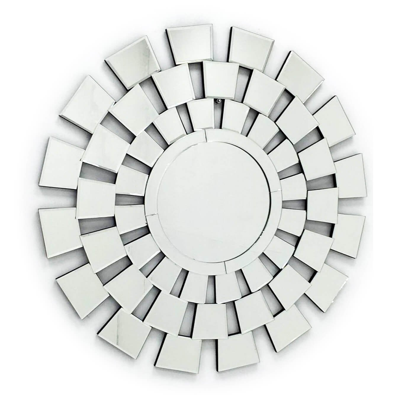 Fab Glass and Mirror FAB-WSTC016 Decorative Sunburst, Bathroom Wall
