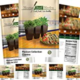 [Mexican Variety] Herb & Pepper Seeds - Non GMO - Jalapeno Seeds, Tomatillo Seeds, Serrano Pepper Seeds, Cilantro Seeds, Chile de Arbol - Heirloom Hot Salsa Seeds by Home Chef Herbs