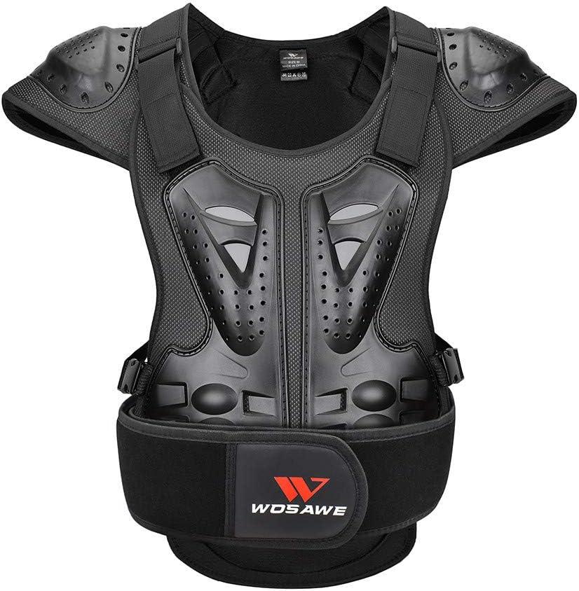 WOSAWE Chaleco Protector para Adultos, Protección de Pecho Corporal Proteger Espalda Chaqueta de Esquí Ropa para Motocicleta Ciclismo Patinaje Esquiar M