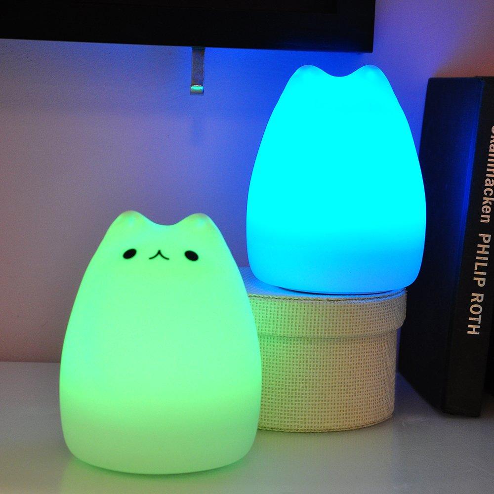 Amazon.com: akdsteel Kids luz nocturna LED recargable ...