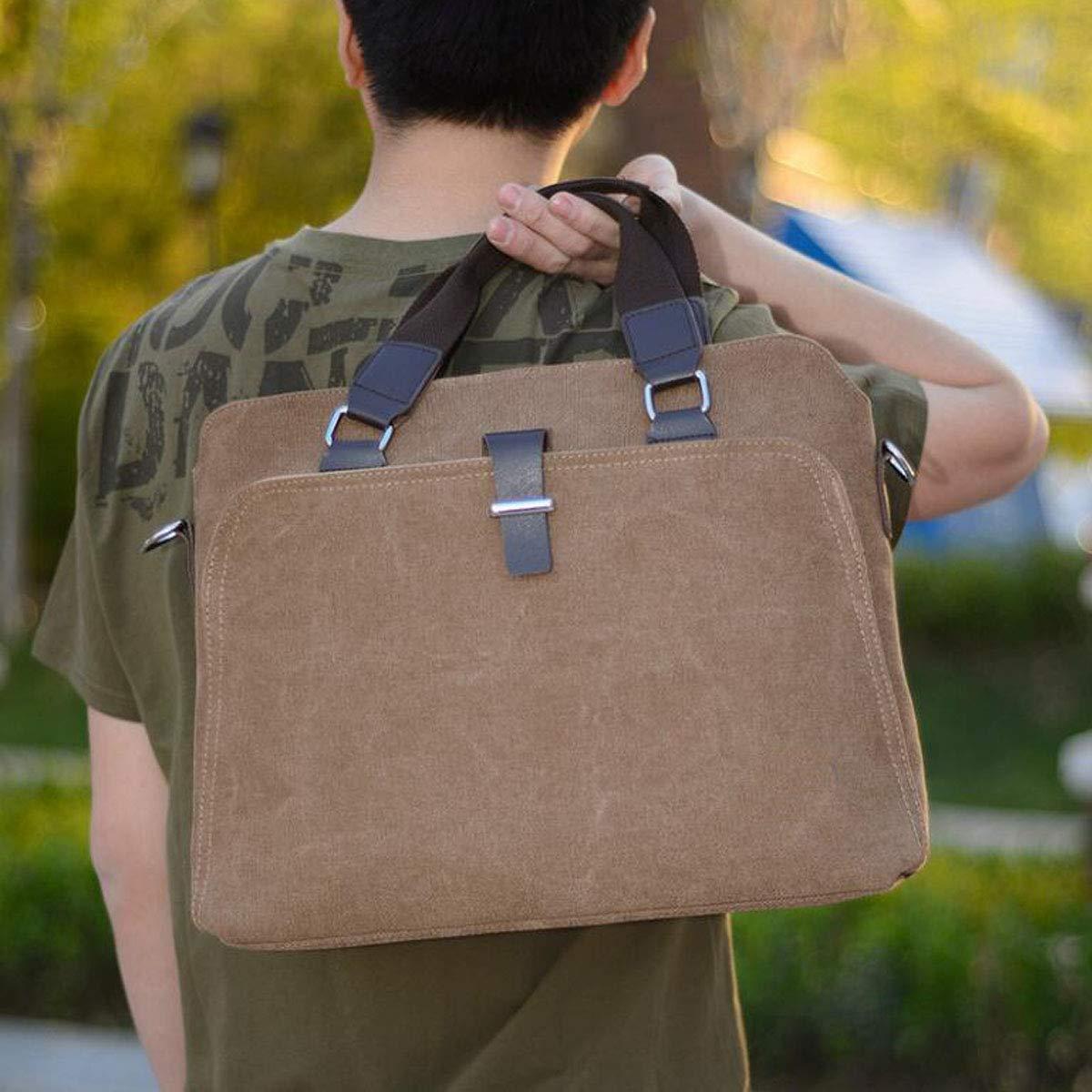 Suitable for Travel Aishanghuayi Briefcase Etc Color : Coffee Color 2018 New Canvas Mens Messenger Bag Shoulder Bag Business Bag Work Black Size: 38931cm Durable