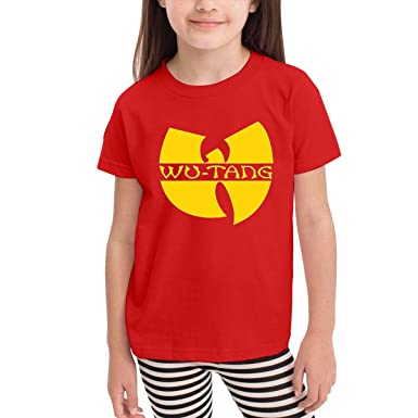 2-6 Year Old Childrens T-Shirt Unique Sleek Minimalist New Short-Sleeved T-Shirt Wu Tang Logo Red