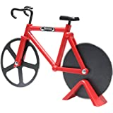 Pizza Cutter, Newness Bicycle Shape Dual Pizza Cutter, Bike Pizza Cutter Wheels with Dual Stainless Steel Blades for…