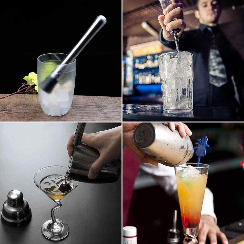 GOLDGE Coctelera para Cócteles, 12Pcs Profesional Barman Cocteleria 750ml Juego de Herramientas de Barra de Acero Inoxidable Ideal para Bar, Hogar ...