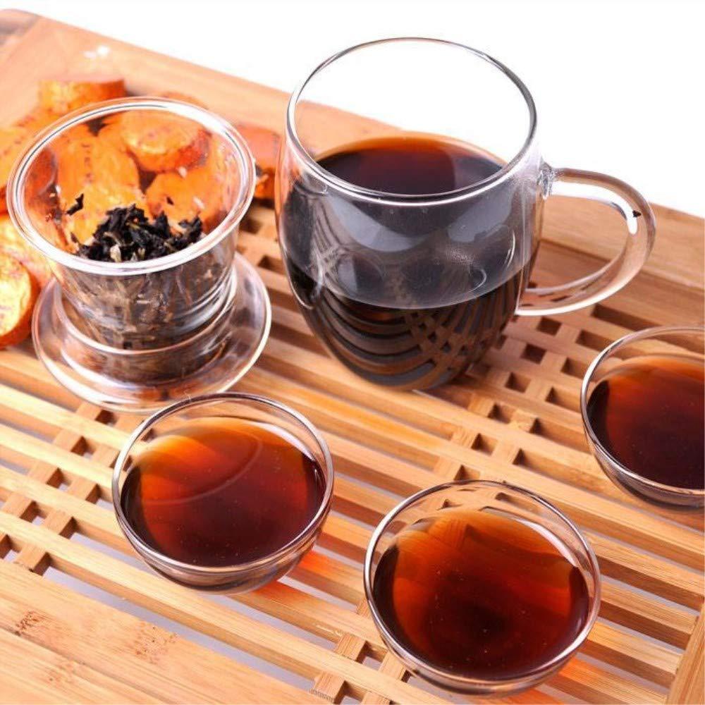 Yan Hou Tang 10 Years Aged Organic Chinese Yunan Puerh Tea Black Lump Tuo Cha Ripe Fermented 100g - Chinese Tea Gifts with Non-GMO Detox Weight Loss US FDA SGS Verified