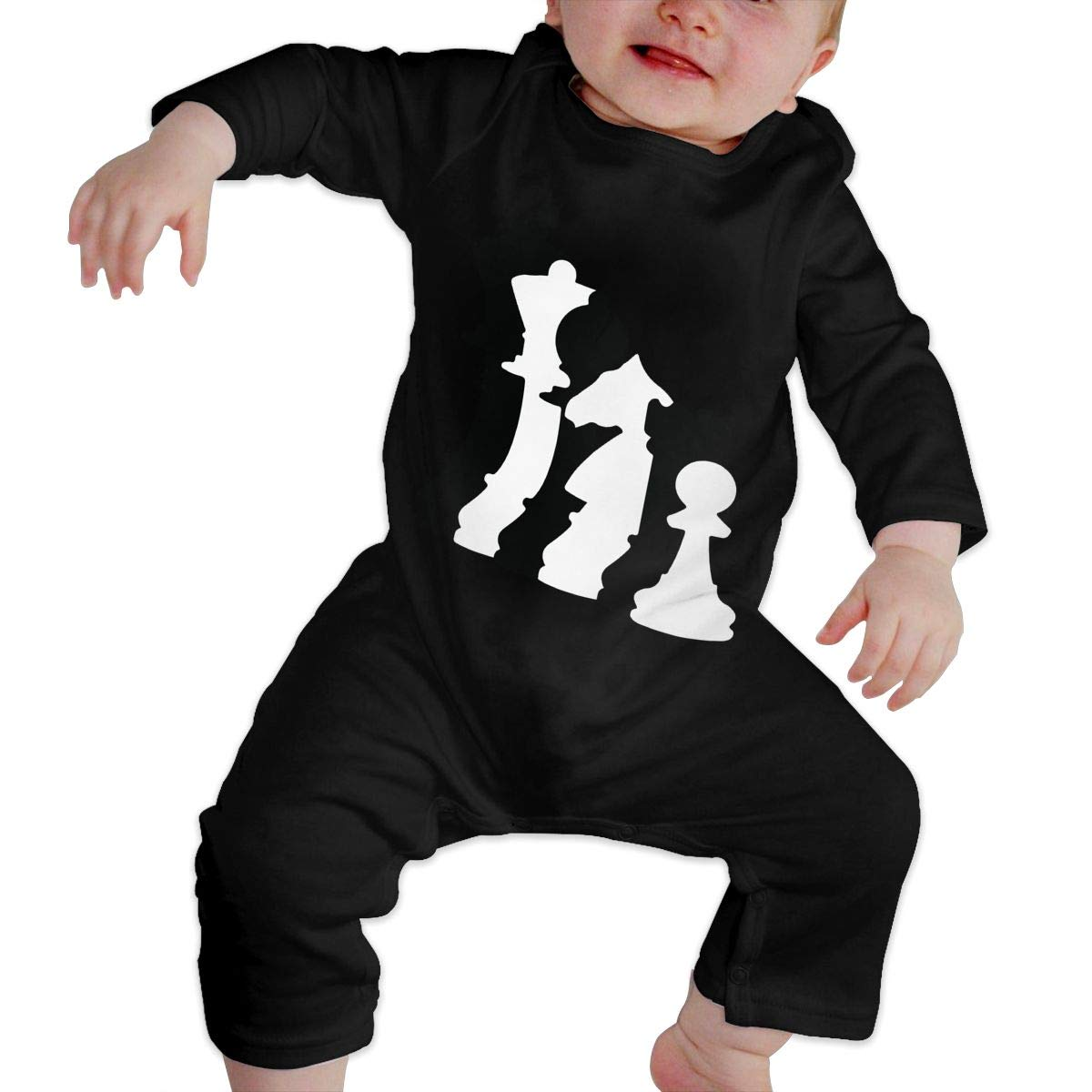 UGFGF-S3 Chess Player Toddler Baby Long Sleeve Bodysuit Kid Pajamas