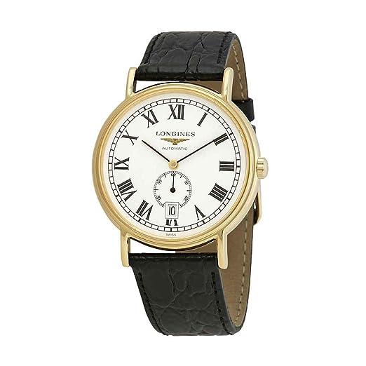 Longines Presence L4.805.2.11.2 - Reloj automático con Esfera Blanca para Hombre: Amazon.es: Relojes