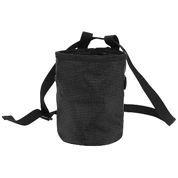 GOTOTOP - Bolsa de Cintura para Escalada con Cierre de cordón para Gimnasio y Deporte, con Bolsillo en Polvo de magnesio, Negro: Amazon.es: Deportes y aire ...