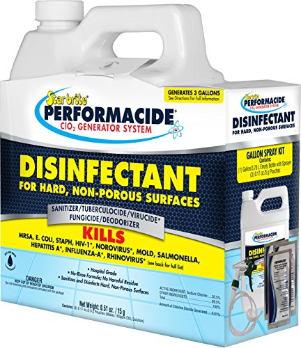 (Performacide 102000 Disinfectant for Hard Non-Porous Surfaces Gallon Kit)