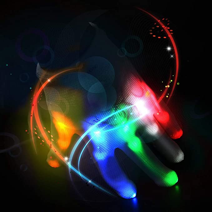 Amazon.com: Guantes de luz LED intermitentes, guantes de ...