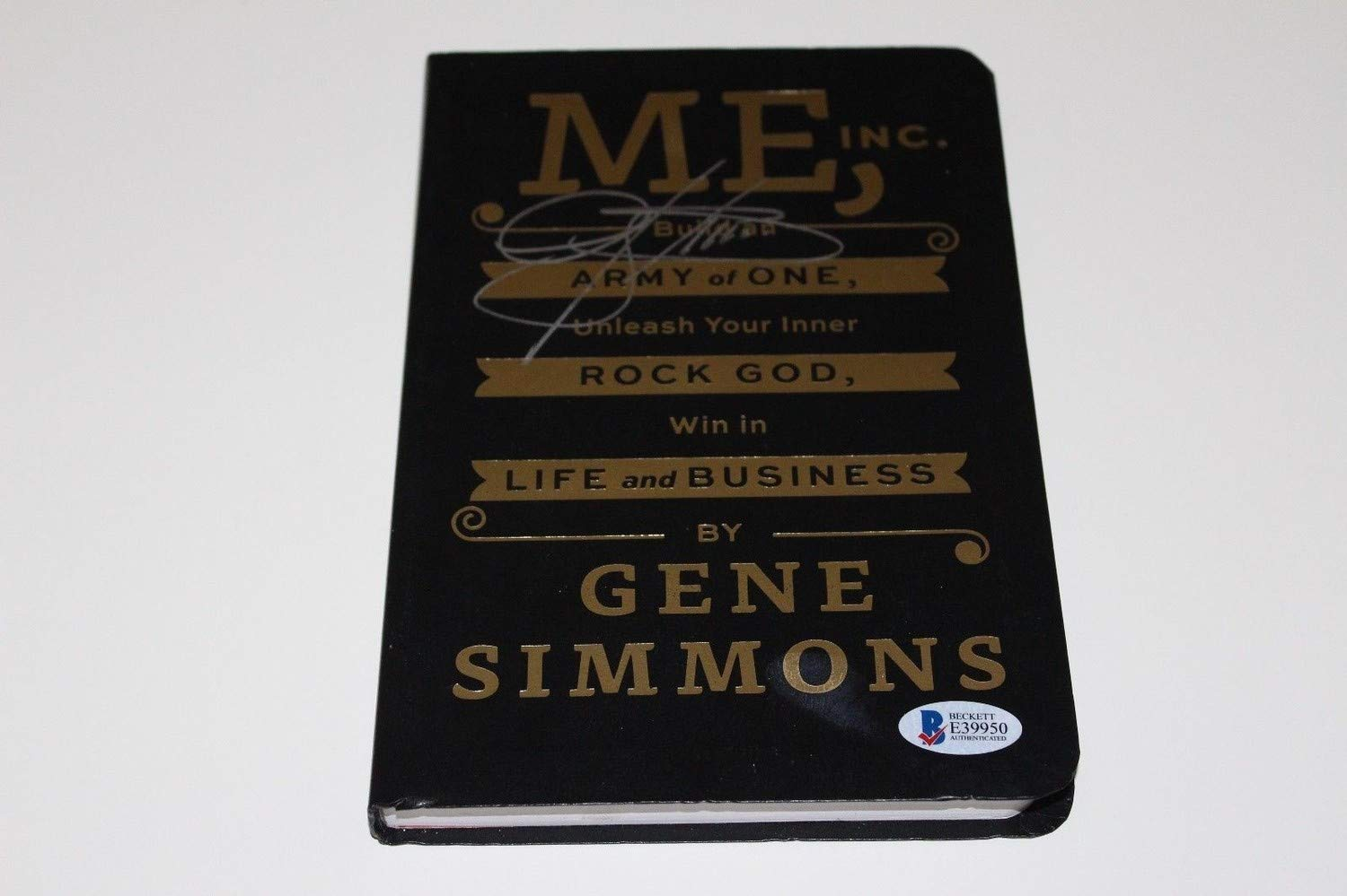 Autographed Signed Gene Simmons Autographed Signed Me Inc. Book Beckett Authentication Coa