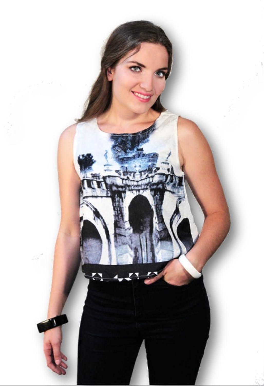 Izaia Women Black & White Patern Shirt