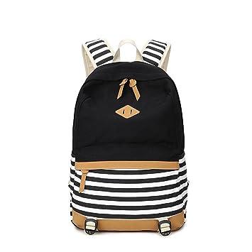 Mochila para portátil Back to School Mochilas para adolescentes Mochila Backbag Mochila escolar Mochilas negras: Amazon.es: Equipaje