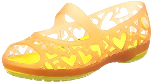 721a31049420 crocs Adrina Hearts Girls Clog in Orange  Buy Online at Low Prices in India  - Amazon.in