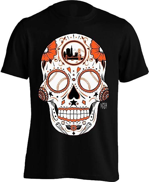 30550eaea America s Finest Apparel San Francisco Baseball Sugar Skull - Men s (Small