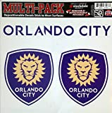Orlando City SC Lions 12'' Vinyl MULTI Die Cut Decal Sheet Repositionable MLS Soccer Football Club