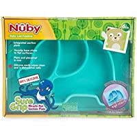 Nuby Sure Grip Silicone Animal Section Plate