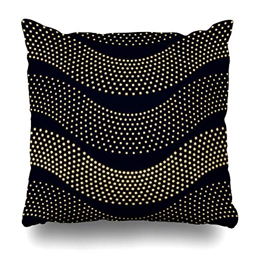 (Ahawoso Throw Pillow Cover Brown Beige Batik Abstract Wavy Pattern Small Illuminatiterior Christmas Bead Black Border Design Decorative Cushion Case 16x16 Inches Square Home Decor)