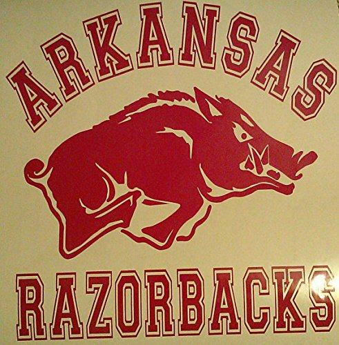 New Arkansas Razorbacks Decals Cornhole Decals - 2 Cornhole Decals