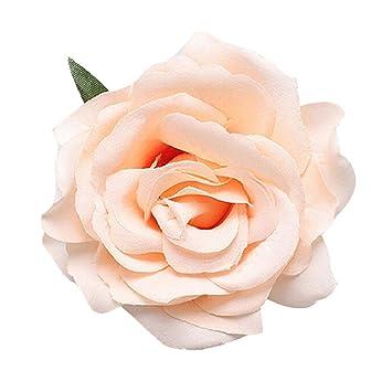 Geminimall champagne rose fabric hair flower clip hair pins corsage geminimall champagne rose fabric hair flower clip hair pins corsage brooch wedding bridal mightylinksfo