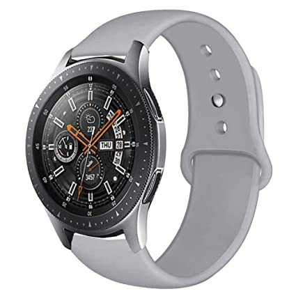 Compatible Samsung Gear S3 Frontier/Samsung Galaxy Watch 46mm Bands,22mm Silicone Breathable Replacement Strap Quick-Release Pin for Gear S3 Frontier ...
