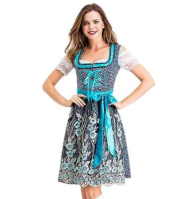 TAOtTAO Vestido de Dama Alemana para Cosplay de Halloween con ...