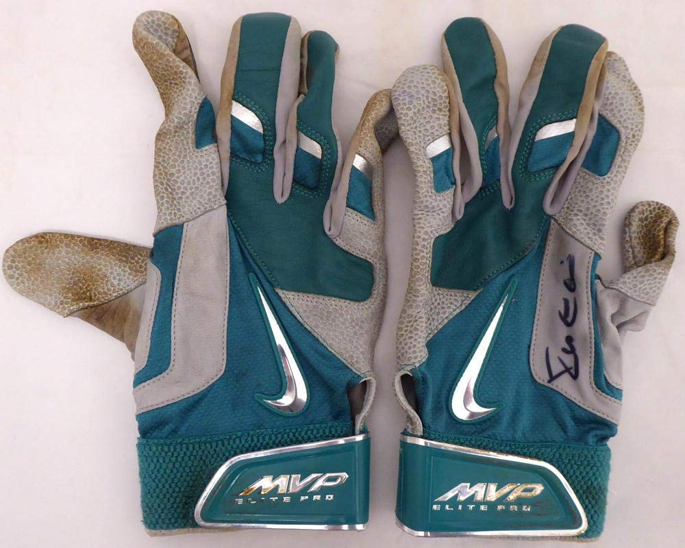 Robinson Cano Autographed Seattle Mariners Game Used Nike Batting Gloves With Signed Certificate SKU #138704