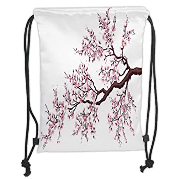 Cherry Blossoms Art Drawstring Backpack Rucksack Shoulder Bags Training Gym Sack For Man And Women