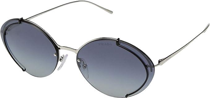 Prada 0PR 60US Gafas de sol Silver/Black 45 para Mujer ...