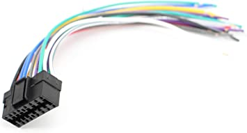 sony automotive audio wiring harness amazon com xtenzi car radio wire harness compatible with sony cd  wire harness compatible with sony cd
